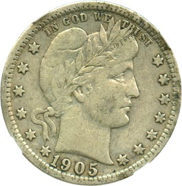 Image of 1905 25c NGC VF25
