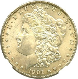 Image of 1901-O $1 NGC MS65