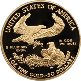 Image of 1996-W Gold Eagle $50 PCGS Proof 70 DCAM