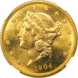Image of 1904 $20 NGC MS63