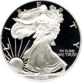 Image of 2004-W Silver Eagle $1 PCGS Proof 70 DCAM