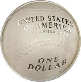 Image of 2014-P Baseball Hall of Fame $1 PCGS Proof 70 (Ernie Banks Signature)