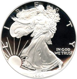 Image of 1994-P Silver Eagle $1 PCGS Proof 70 DCAM