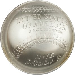 Image of 2014-P Baseball Hall of Fame $1 PCGS MS70 (Ernie Banks Signature)