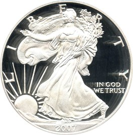 Image of 2007-W Silver Eagle $1 PCGS Proof 70 DCAM (Doily)