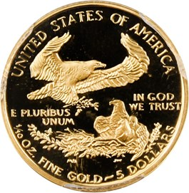 Image of 1998-W Gold Eagle $5 PCGS Proof 70 DCAM