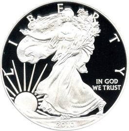 Image of 2010-W Silver Eagle $1 PCGS Proof 70 DCAM (Doily)