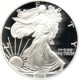 Image of 2006-W Silver Eagle $1 PCGS Proof 70 DCAM (Doily)