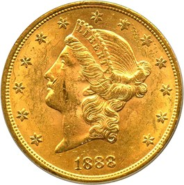 Image of 1888-S $20 PCGS MS61