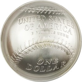 Image of 2014-P Baseball Hall of Fame $1 PCGS MS70 (Eddie Murray Signature)