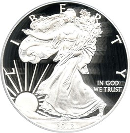 Image of 2012-W Silver Eagle $1 PCGS Proof 70 DCAM (Doily)