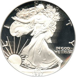 Image of 1987-S Silver Eagle $1 PCGS Proof 70 DCAM