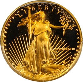 Image of 1988-P Gold Eagle $5 PCGS Proof 70 DCAM