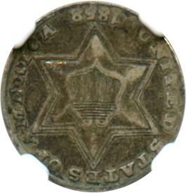 Image of 1858 3cS NGC VF30