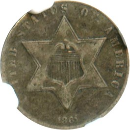 Image of 1861 3cS NGC VF25