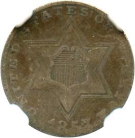 Image of 1857 3cS NGC VF20
