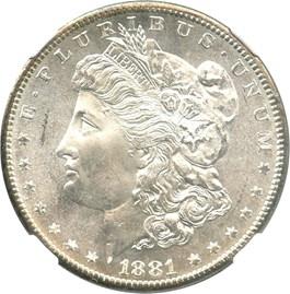 Image of 1881-S $1 NGC MS67