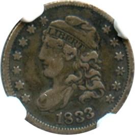 Image of 1833 H10c NGC VF20