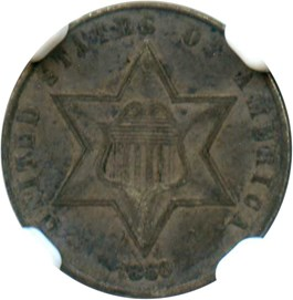 Image of 1860 3cS NGC VF35