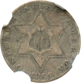 Image of 1855 3cS NGC VF30