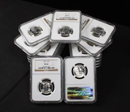 Image of Collector Lot of 1956 25c: All NGC MS66 (15 Coins)