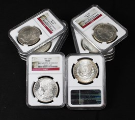 Image of Collector Lot of 1881-S $1: All NGC MS63 (10 Coins)