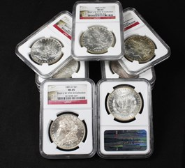 Image of Collector Lot of 1885-O $1: All NGC MS65 (11 Coins)
