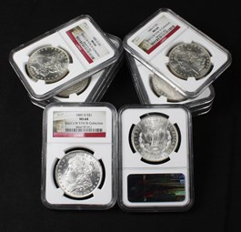 Image of Collector Lot of 1885-O $1: All NGC MS64 (10 Coins)