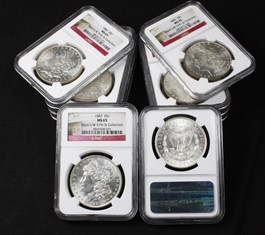 Image of Collector Lot of 1887 $1: All NGC MS65 (10 Coins)