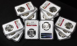 Image of Collector Lot of 1955 50c: All NGC MS64 FBL (20 Coins)