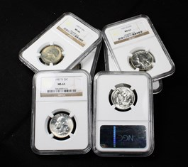 Image of Collector Lot of 1957-D 25c: All NGC MS65/66 (6 Coins)