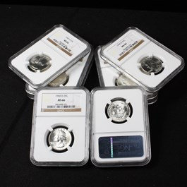 Image of Collector Lot of 1960-D 25c: All NGC MS66 (8 Coins)