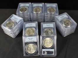Image of Collector Lot of 1921 Morgan $1: All PCGS MS61 (40 Coins)