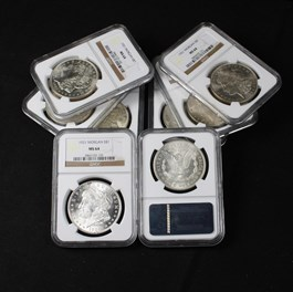 Image of Collector Lot of 1921 Morgan $1: All NGC MS64 (8 Coins)