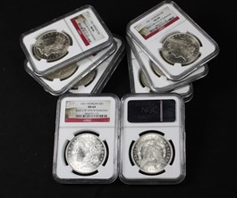 Image of Collector Lot of 1921 Morgan $1: All NGC MS64 (10 Coins)