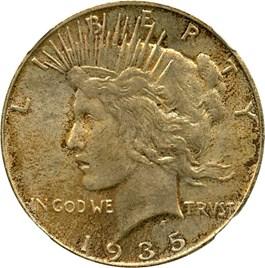 Image of 1935 $1 NGC MS64