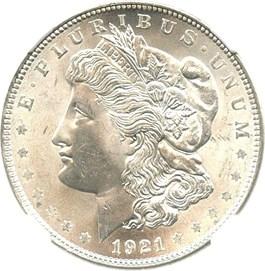 Image of 1921 Morgan $1 NGC MS64