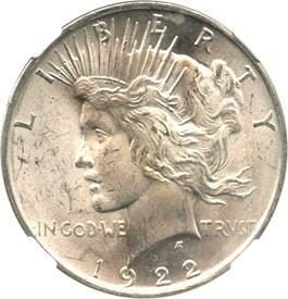 Image of 1922 $1 NGC MS64