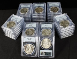 Image of Collector Lot of 1921 Morgan $1: All PCGS MS62 (40 Coins)