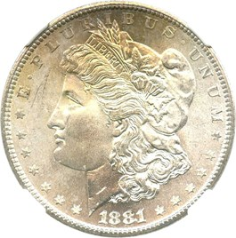 Image of 1881-S $1 NGC/CAC MS66