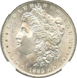 Image of 1885-O $1 NGC/CAC MS66