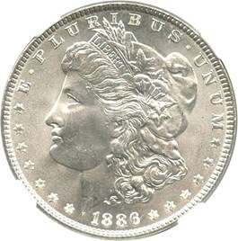 Image of 1886 $1 NGC/CAC MS67