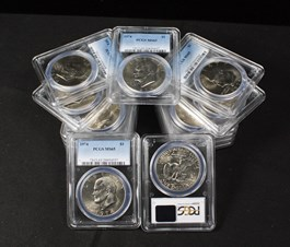 Image of Collector Lot of 1974 $1: All PCGS MS65 (15 Coins)