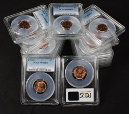 Image of Collector Lot of 1955-S 1c: All PCGS MS66 RD (15 Coins)