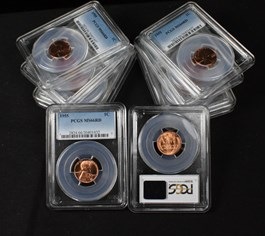 Image of Collector Lot of 1955 1c: All PCGS MS66 RD (10 Coins)