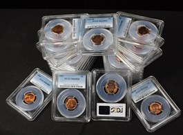 Image of Collector Lot of Assorted Lincoln 1c: All PCGS MS65 RD (21 Coins)