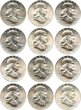 Image of Collector Lot of 1958 50c: All PCGS MS64 (12 Coins)