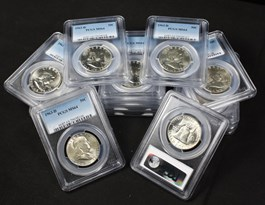 Image of Collector Lot of 1963-D 50c: All PCGS MS64 (16 Coins)