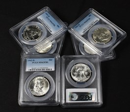 Image of Collector Lot of 1962-D 50c: All PCGS MS63 FBL (6 Coins)