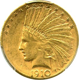 Image of 1910-S $10 PCGS AU53